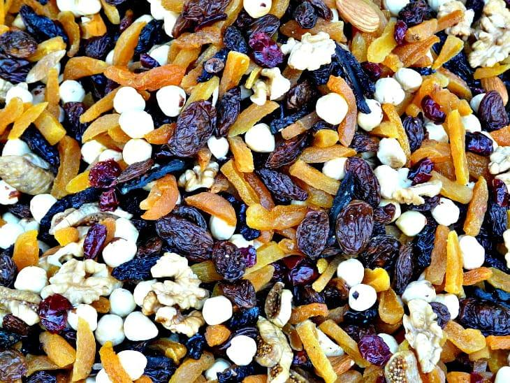 Close up of nuts, seeds, and granola