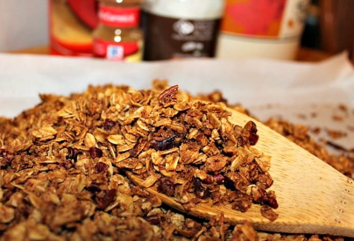 Granola on a table