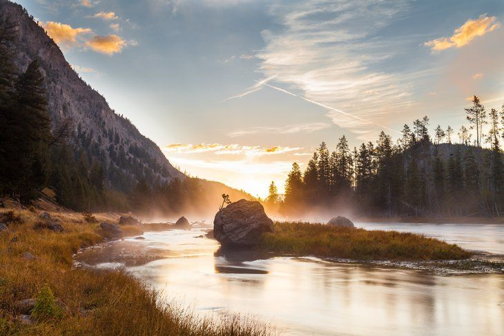 Sun rising over Yosemite National Park