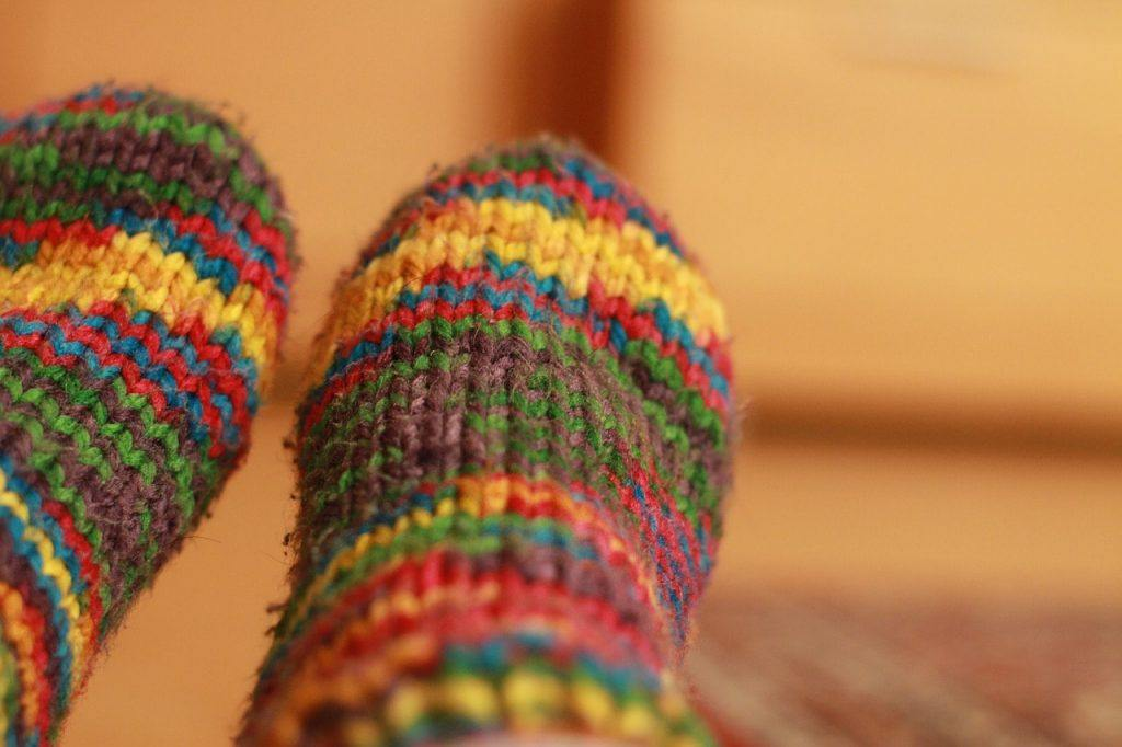 rainbow colored socks